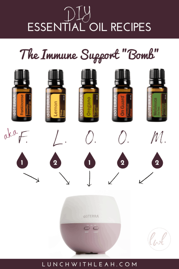 How To Make An Immune Support Bomb With Essential Oils Aka Floom Lunch With Leah